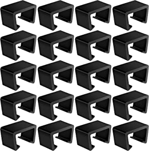 Droutti 20 Pieces Outdoor Furniture Clips Patio Wicker Furniture Clips Rattan Chair Sofa Fasteners Black Sofa Connect Clamps Furniture Clamps Sectional or Module Outdoor Couch Patio Furniture