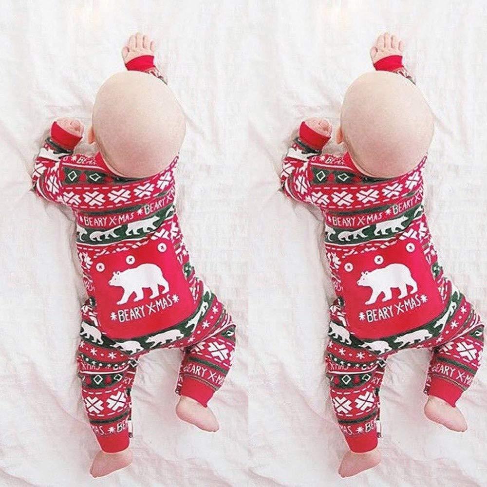 Xmiral Bebé-Niños Pijama Enteros Peleles Mameluco Infantil Estampado Dibujo Animado Regalo Navidad Color Variado Algodón Rojo 6-24Meses: Amazon.es: Ropa y ...