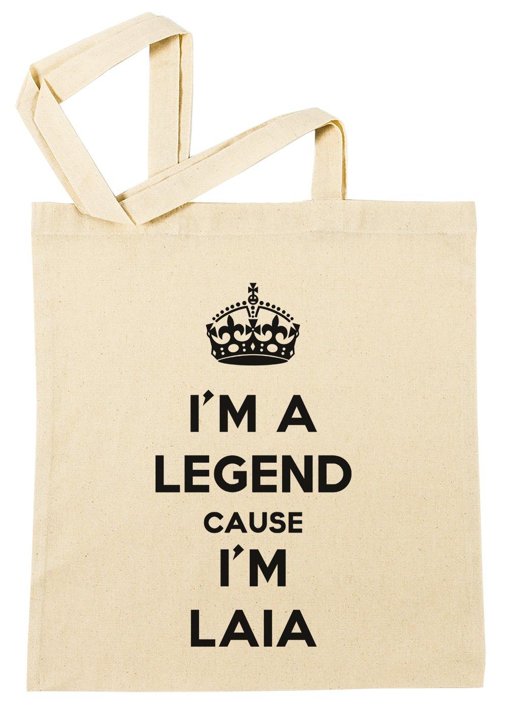 Im A Legend Cause Im Laia Bolsa De Compras Playa De Algod/ón Reutilizable Shopping Bag Beach
