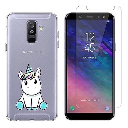 Funda Samsung Galaxy A6 Plus 2018 Lindo Unicornio Suave TPU Silicona Anti-rasguños Protector Trasero Carcasa para Samsung Galaxy A6 Plus 2018 con Un ...