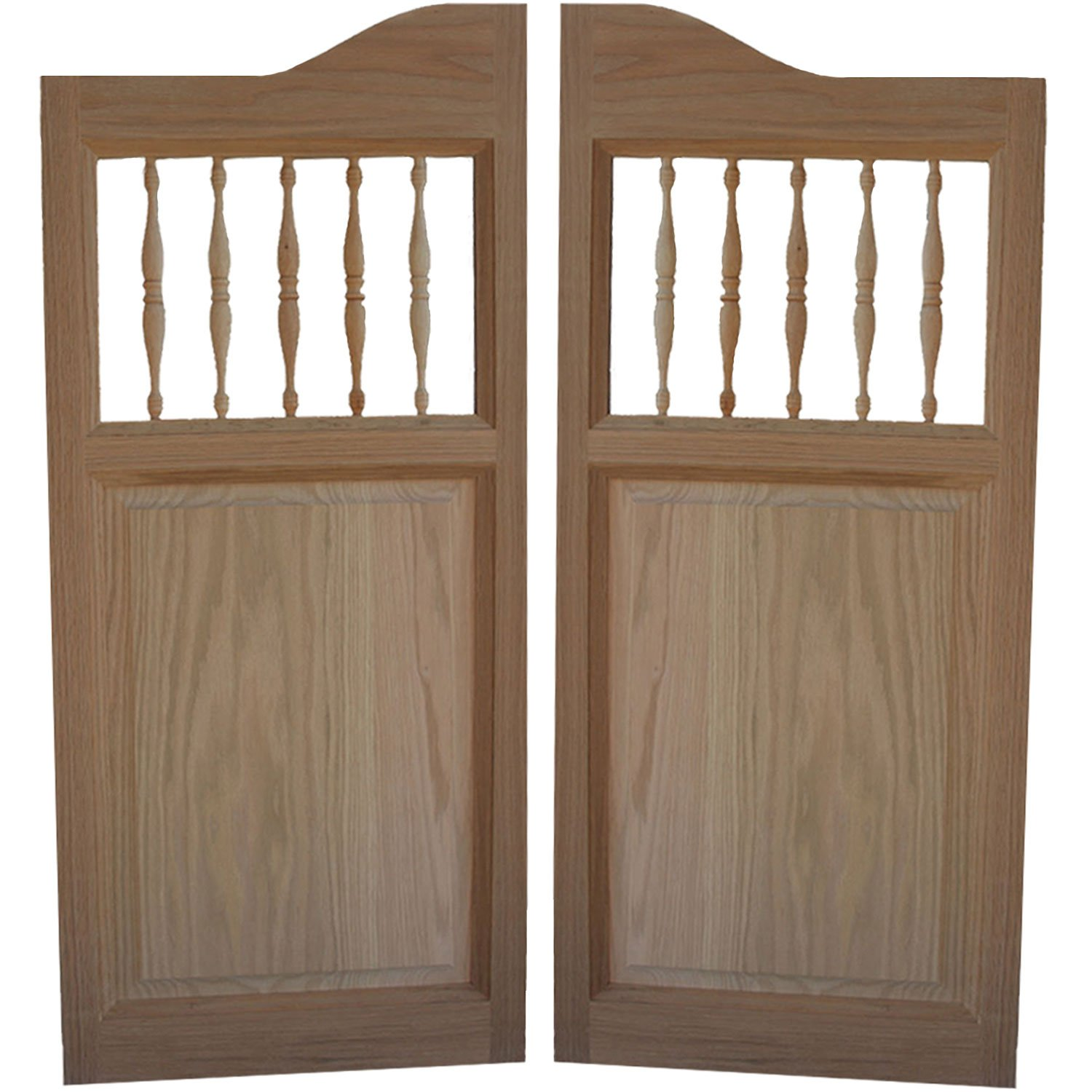 Custom Made Solid Oak Western Swinging Cafe Doors / Saloon Doors with Hardware Fits Any 24 - 36  Door Opening - Swinging Doors Saloon Style - Amazon.com & Custom Made Solid Oak Western Swinging Cafe Doors / Saloon Doors ... pezcame.com