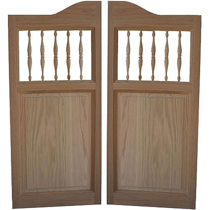Custom Made Solid Oak Western Swinging Cafe Doors / Saloon Doors with Hardware Fits Any 24u0026quot & Custom Made Solid Oak Western Swinging Cafe Doors / Saloon Doors ...