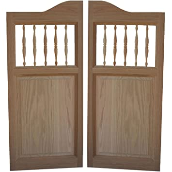 Custom Made Solid Oak Western Swinging Cafe Doors / Saloon Doors with Hardware Fits Any 24\u0026quot & Custom Made Solid Oak Western Swinging Cafe Doors / Saloon Doors ...