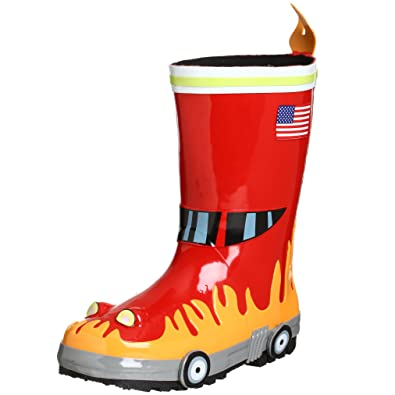 Amazon.com: Kidorable Little Boys' Fireman Rain Boots: Clothing