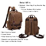 Leparvi Fashion Backpack Purse Canvas Messenger Bag