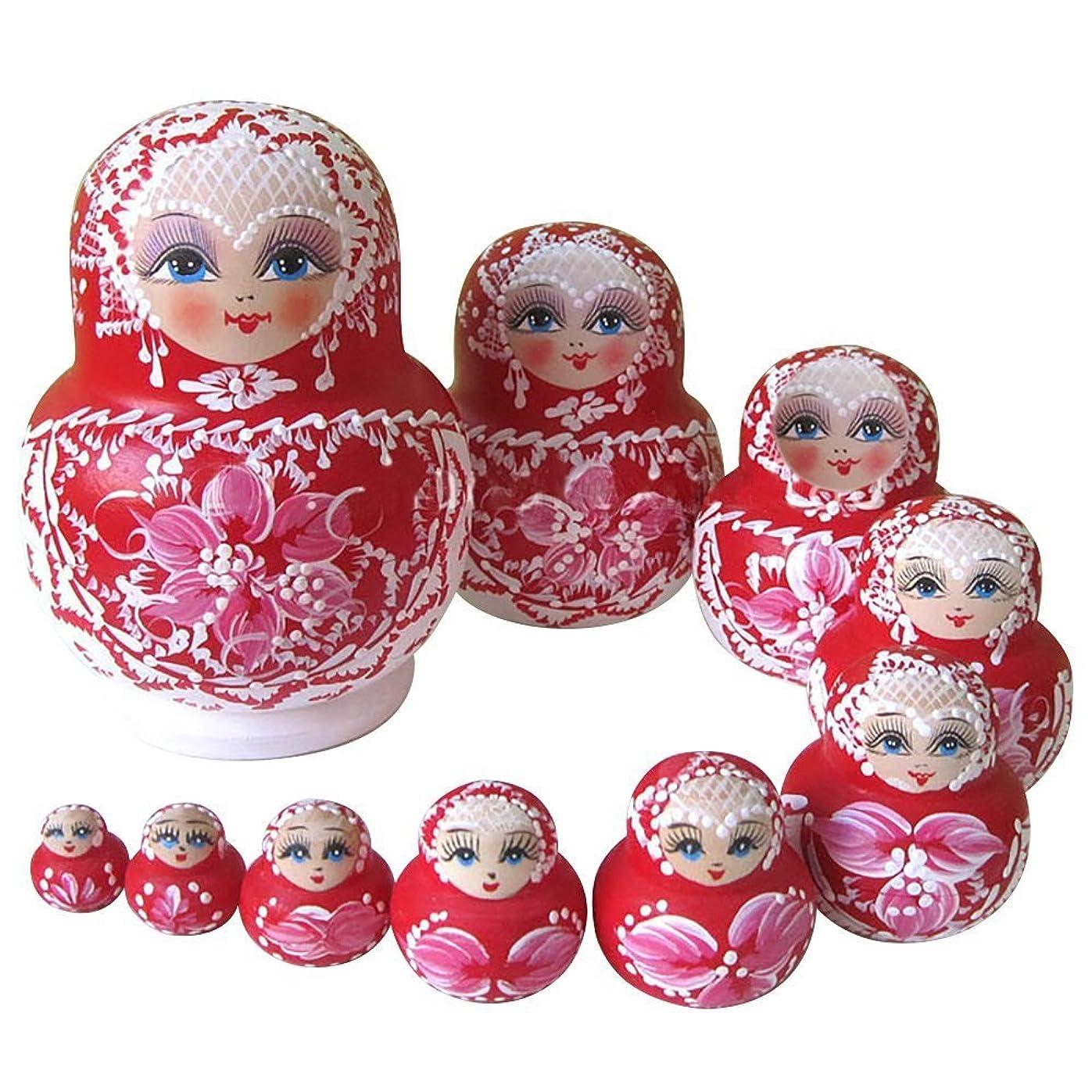病んでいる謙虚散歩に行く伝統的ロシアの女の子 モスクワのクレムリン マトリョーシカ人形 マトリョーシカ 手業 手塗り 木製品 7個組 誕生日プレゼント 贈り物 子供のおもちゃ 飾り物 置物 期間限定