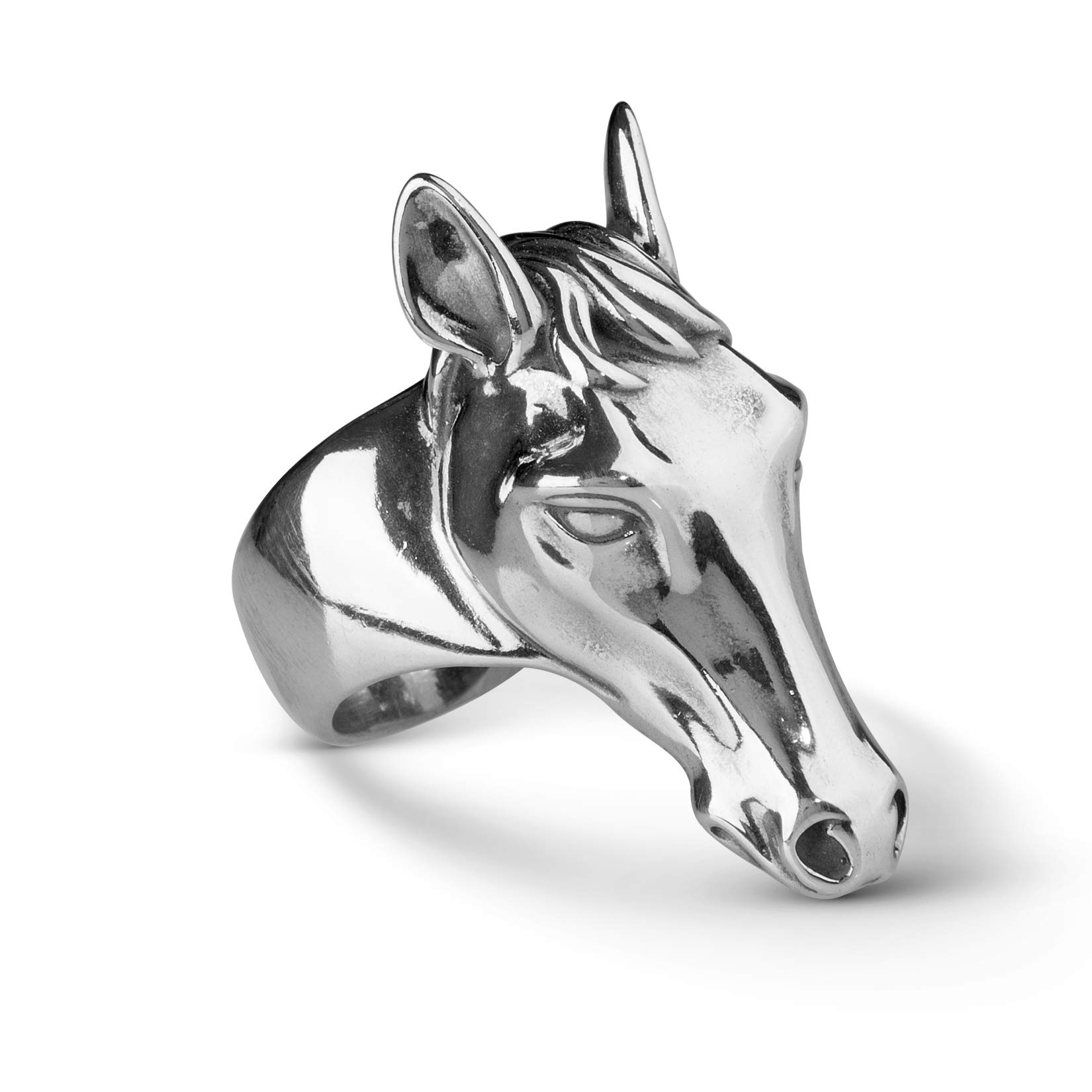 American West Sterling Silver Horse Ring- Size 7 - Earth Spirit Collection