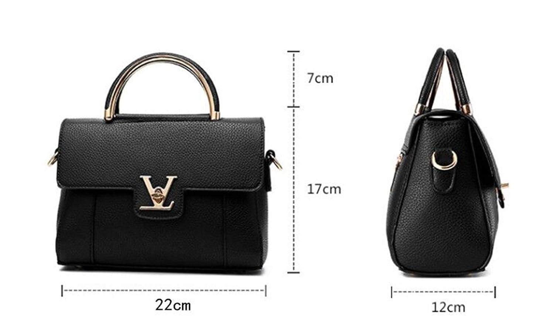 ffda3cd1647 100PC Fake Designer Bags V Women's Luxury Leather Clutch Bag Ladies Handbags  Brand Women Messenger Bags Sac A Main Femme Handle 1: Handbags: Amazon.com