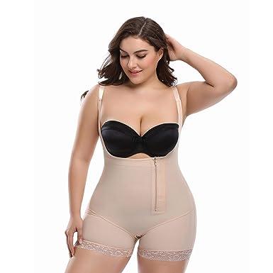 8a207d5fd3f Queenral Waist Trainer Corset for Weight Loss Shaper Underwear for Women  Beige