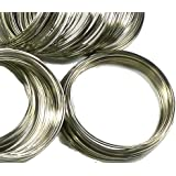 "Rockin Beads Memory Beading Wire Spring Steel, 2-1/4"" 0.55-0.60mm Thick. 200 loops"