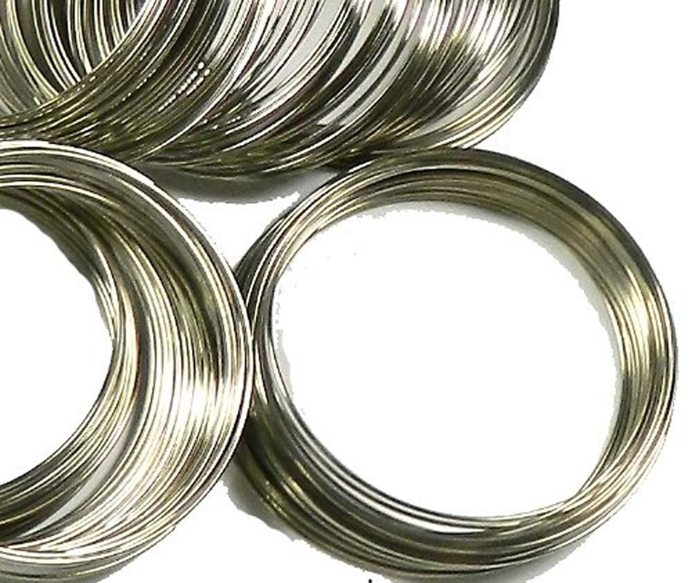 Rockin Beads Memory Beading Wire Spring Steel, 2-1/4 0.55-0.60mm Thick. 200 loops china 8S-B17928