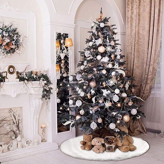 DECARETA Falda de árbol de Navidad para árbol de Navidad, Color ...
