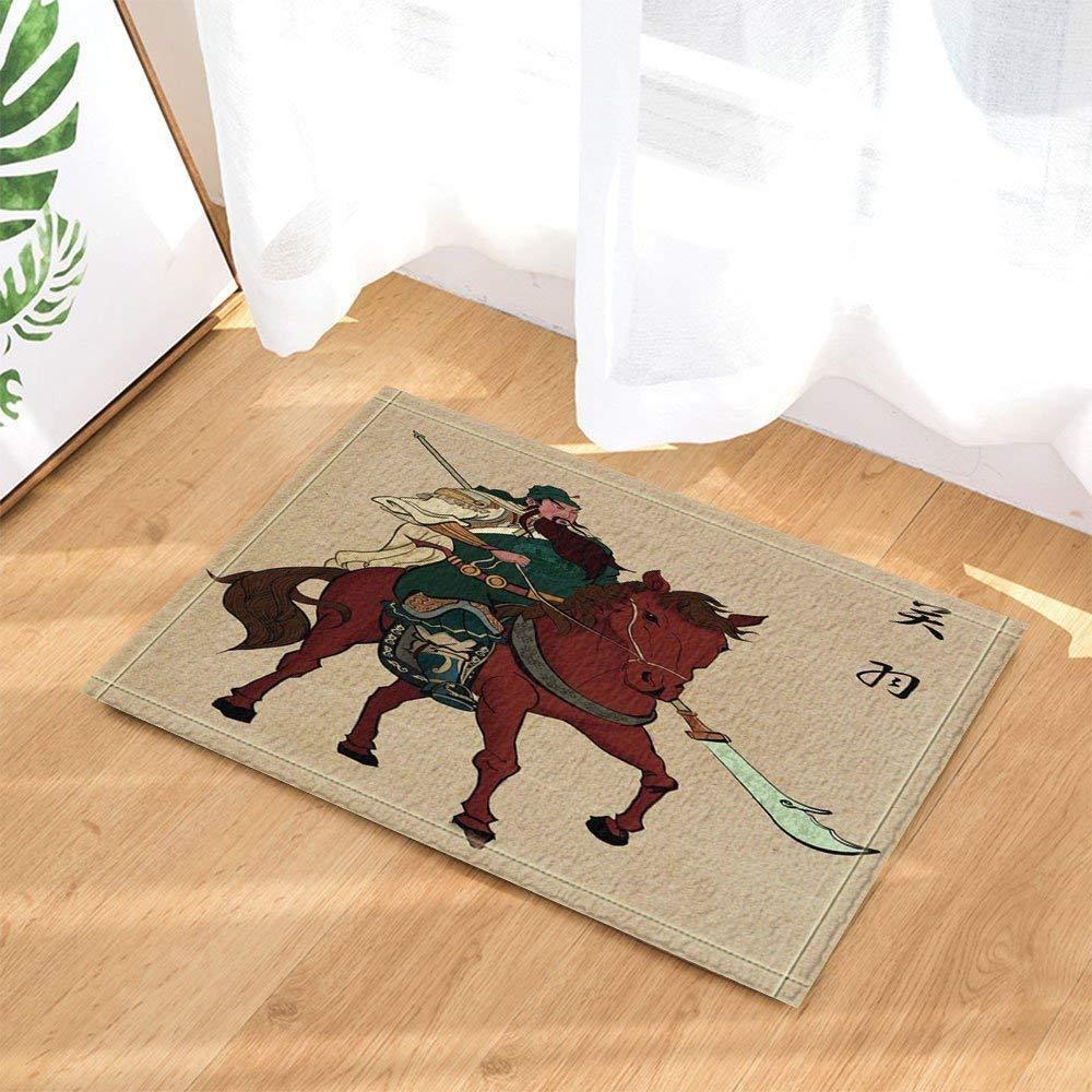 GAOFENFFR Historia Antigua Guan Yu Barbudo con un Cuchillo ...