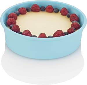 Zavor Silicone Baking Dish & Round Cake Pan Mold for 6Qt & Larger Pressure Cookers, Multicookers, Instant & Stock Pots | BPA-free, Non-scratch Pressure Cooker Accessories Collection, Blue (ZACMIDI22)