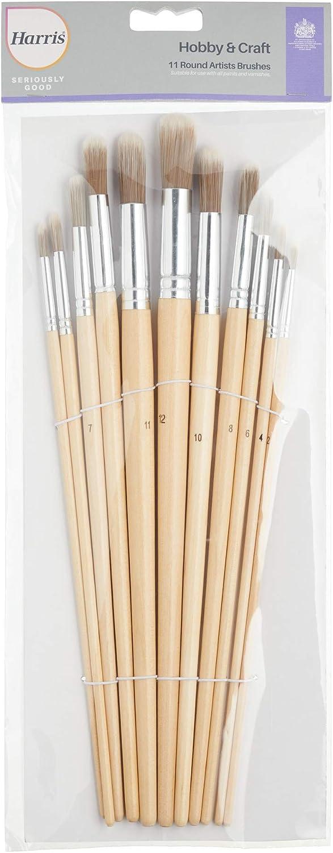 1 x 7mm 1 x 9mm 1 x 11mm 1 x 4mm 1 x 12mm Round Artist Paint Brushes 1 x 5mm 1 x 2mm 1 x 10mm Harris 102041003 Pincel 1 x 3mm 1 x 6mm 1 x 8mm