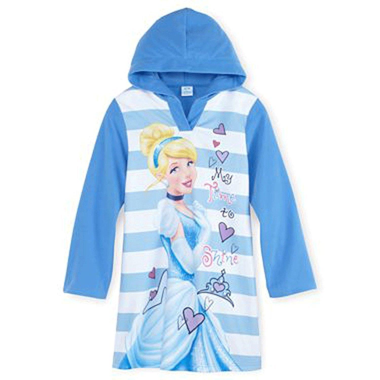 Disney Cinderella Big Girls Hooded Microfleece Nightgown