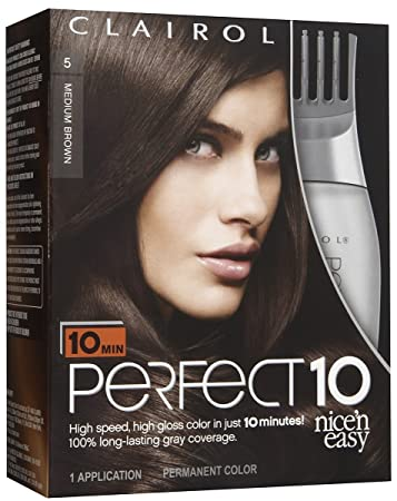 Amazon clairol perfect 10 by nice n easy hair color 005 clairol perfect 10 by nice n easy hair color 005 medium brown solutioingenieria Gallery