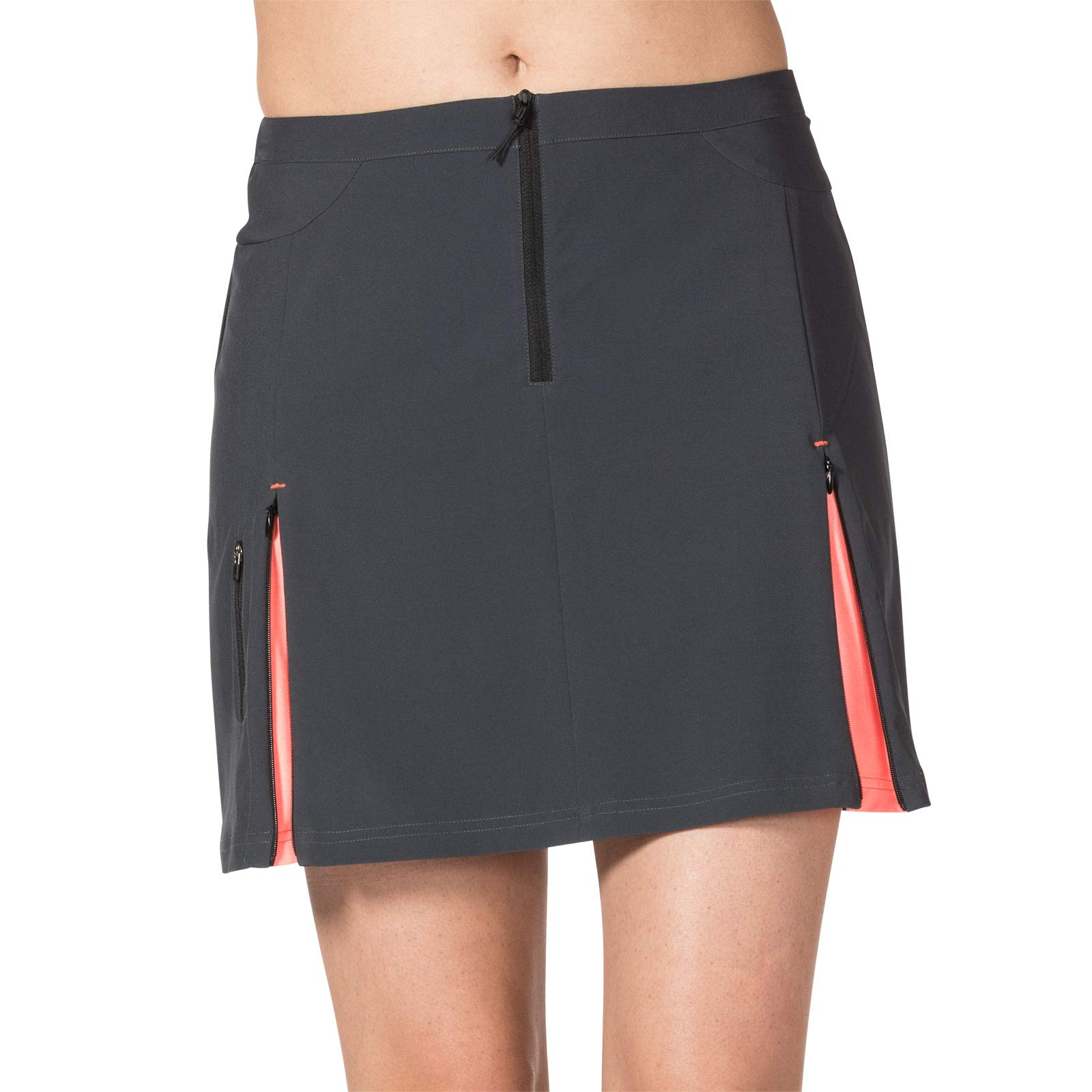 Terry Zipper Skirt Women's Cycling Athletic Quick Dry Bike Touring Skirt - Ebony - Small by Terry