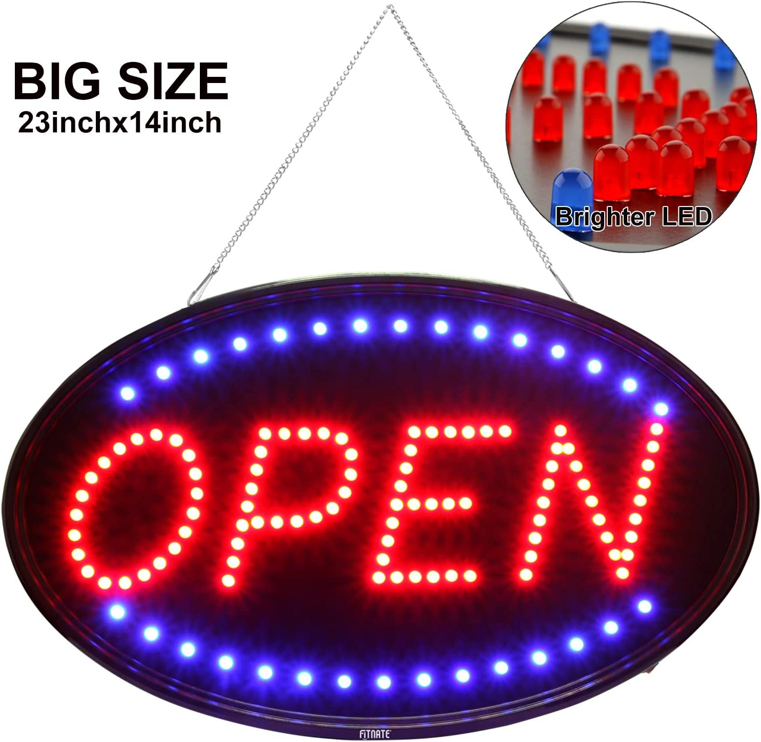 Flashing OPEN LED sign board new window Shop signs Large size