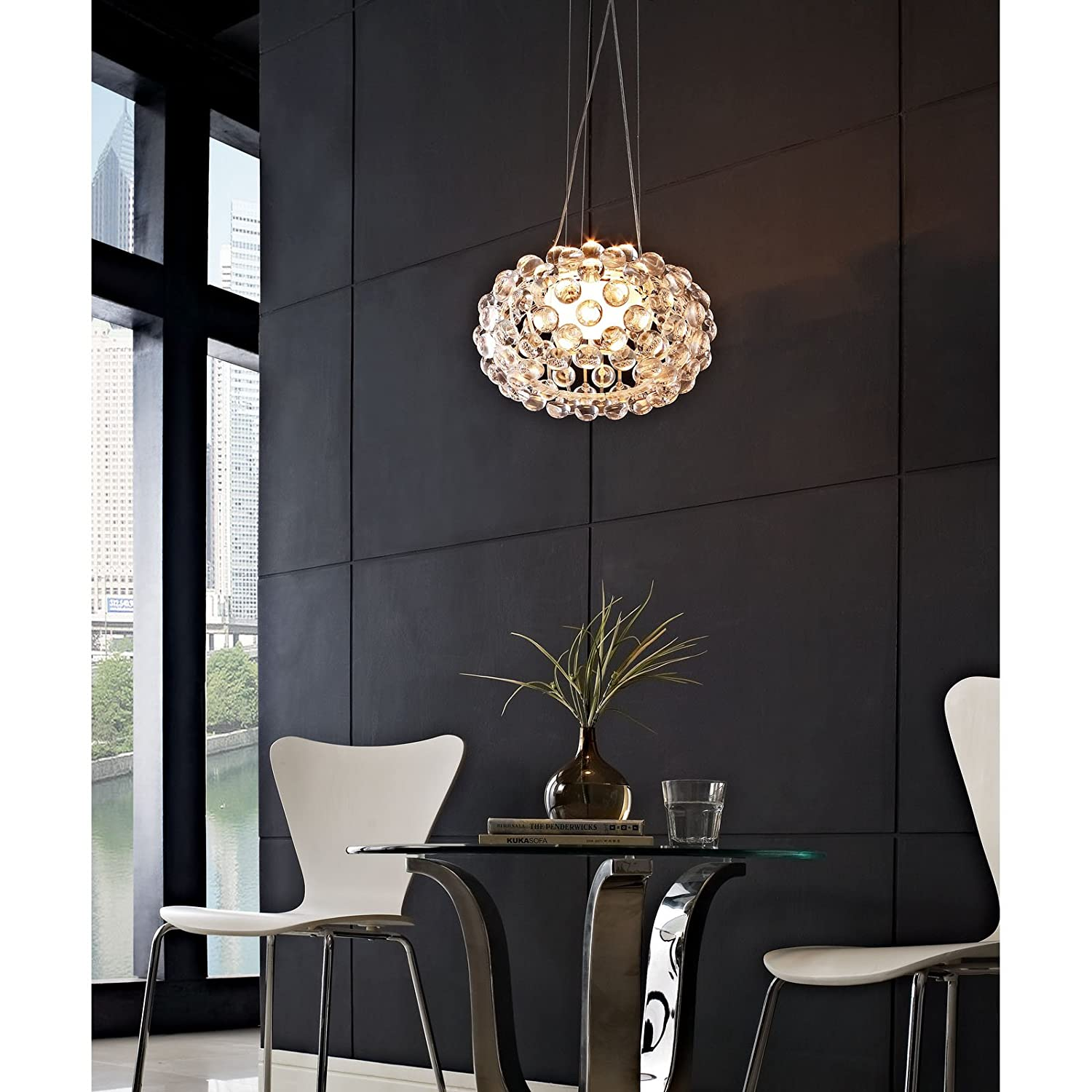 amazoncom modway  caboche style ceiling fixture home  kitchen -