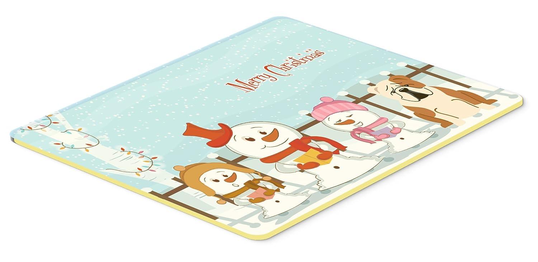 Caroline 's Treasures bb2456cmt Merry Christmas Carolers英語ブルドッグFawnホワイトキッチンやバスマット、20