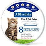 Flea Tick Collar for Dogs and Cats , Prevents and Treats Fleas, Ticks, Lice and Pests for 8 Months, Hypoallergenic and Safe Design, 1 Size Waterproof Puppy and Kitten Collar