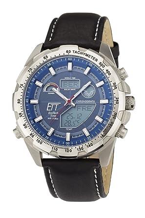 e55a60e5f2 Eco Tech Time Solar Drive Funk Explorer Titan Herrenuhr EGT-11279-21L World  Timer