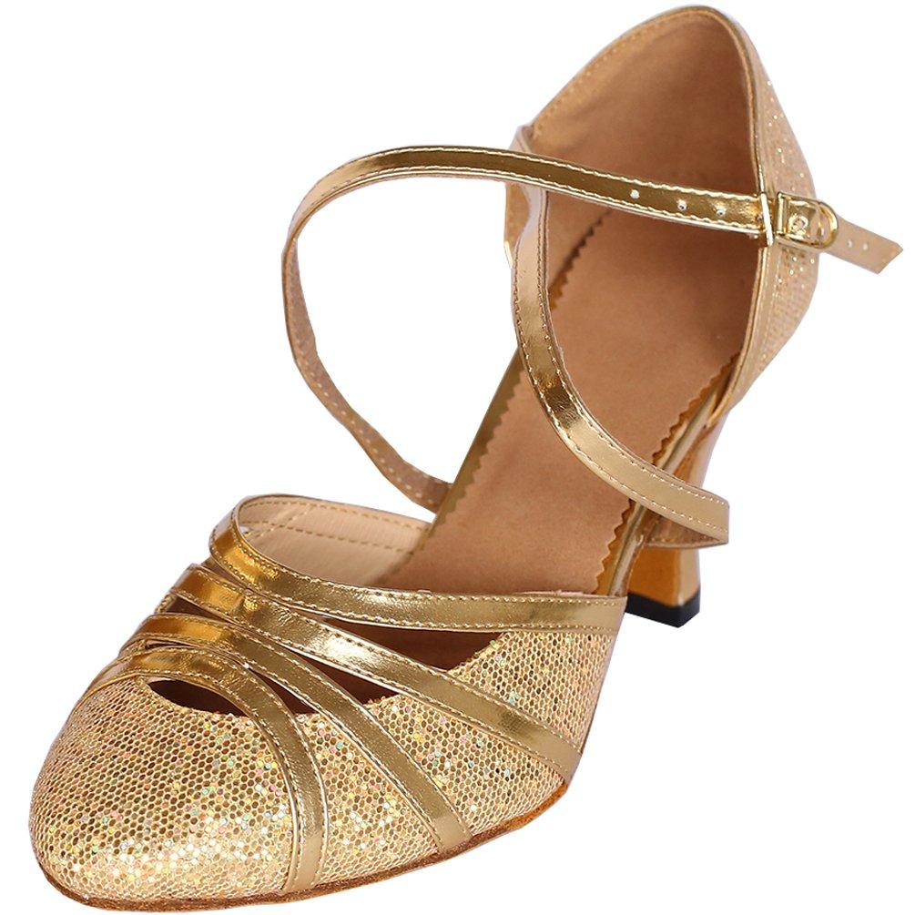CFP , Damen Tanz; modern , gold - gold - Größe: 36 EU(4 cm)