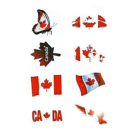 Amazon.com: OUERKEJI Bandera Pegatinas, Americano/Canadá ...