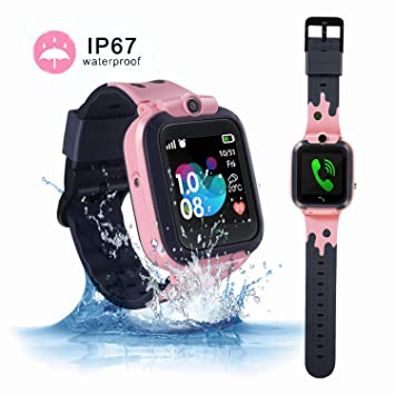 ZOPPRI Smartwatch for Kid, IP67 Waterproof 1.44 inchTouch Screen Watches. GPS Tracker with SOS and Pedometer with Camera Phone Watch. Smartwatch for ...