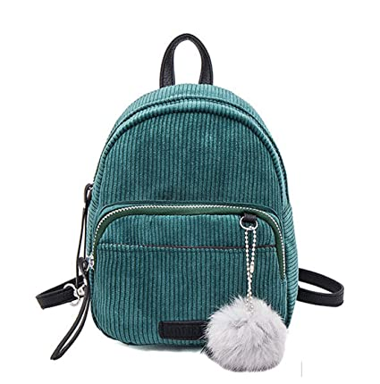 b8e70c2dff Image Unavailable. Image not available for. Color  Basilion Cloth Backpack  Mini Student Bags Casual Shoulder Bag(Green)