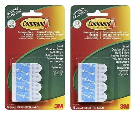 Amazon com: Command Outdoor Foam Hanging Strip Refills
