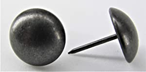 "ComfortStyle Premium Upholstery Tacks, Nailhead Decorative Trim for Furniture, 5/8"" Diameter, 100 Nails (Black Pearl)"