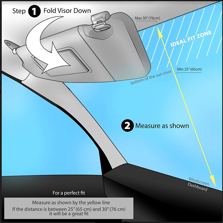 Amazon.com: OKEECA Parasol para coche que mantiene tu ...