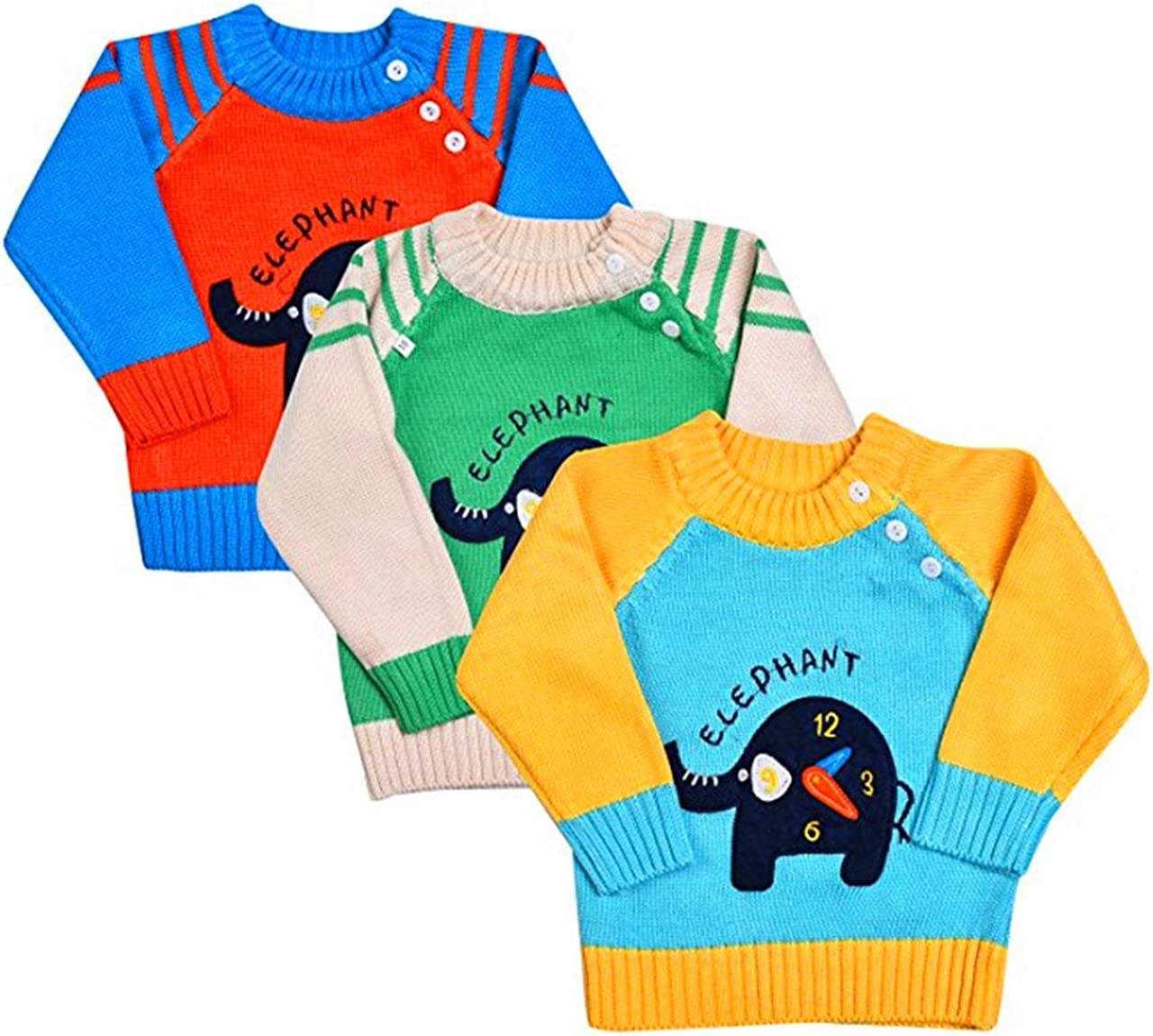 Kids Knitted Sweaters Baby Boys Girls Cartoon Jumpers Toddler Winter Sweatshirt Crewneck Long Sleeve Pullover