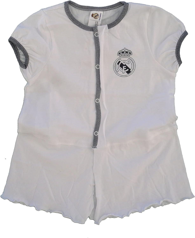 Robe B/éb/é Fille Pliss/ée 0 /à 24 Mois Blanc Gris Real Madrid FC