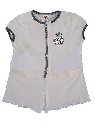 Vestido Real Madrid Niñas Blanco/Gris: Amazon.es: Ropa y ...