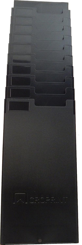 Acroprint Time Recorder Co. 10 Pocket Expanding Time Card Rack, Black 81-0121-000