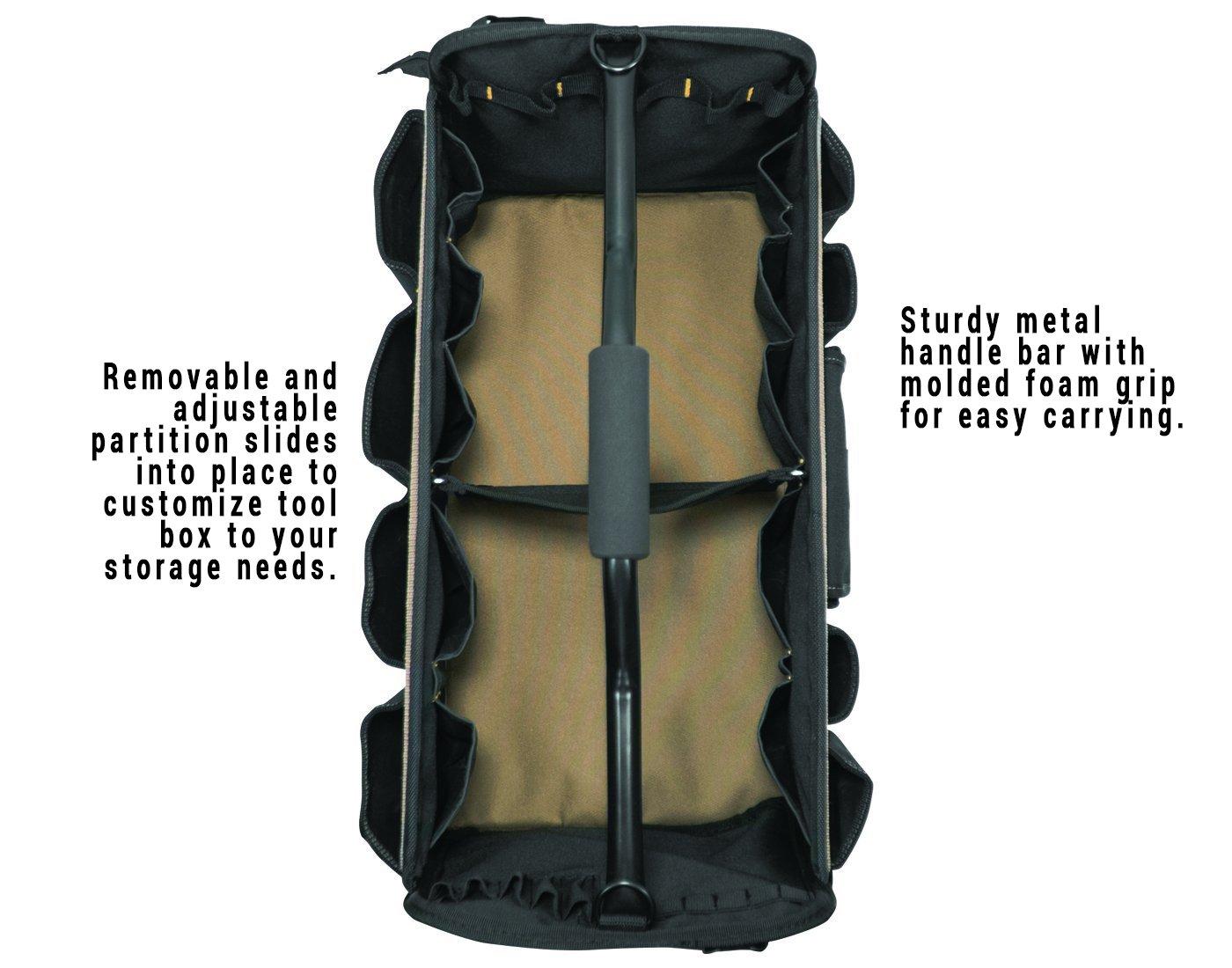 CLC Custom Leathercraft 1579 20 Inch, Open Top, Soft Sided Tool Box, 27 Pockets by Custom Leathercraft (Image #2)