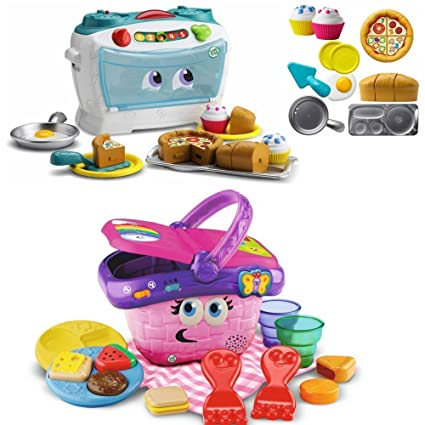 Amazon Com Leapfrog Shapes Sharing Pink Picnic Basket W Food