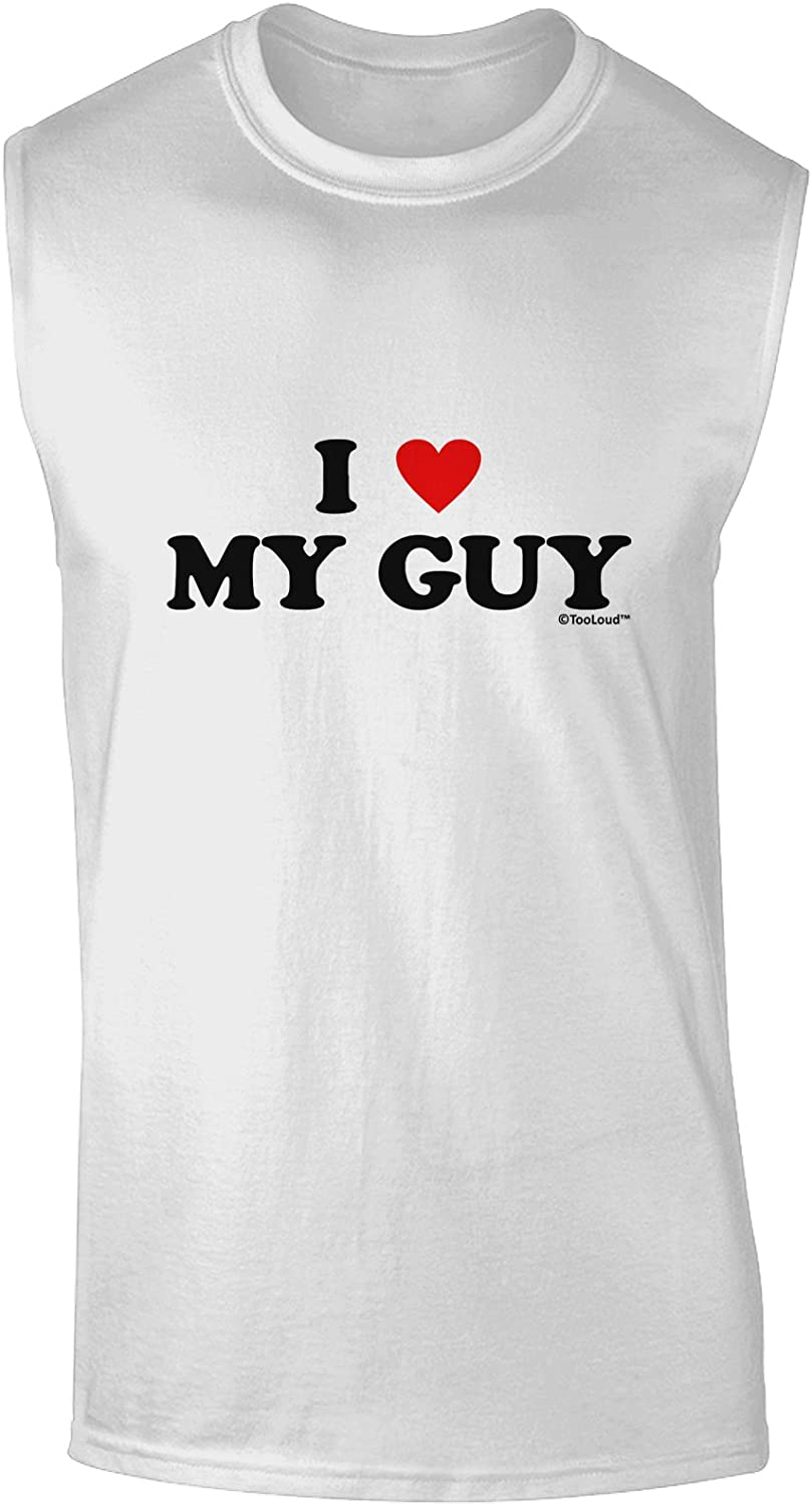 TooLoud I Heart My Frenchie Dark Muscle Shirt