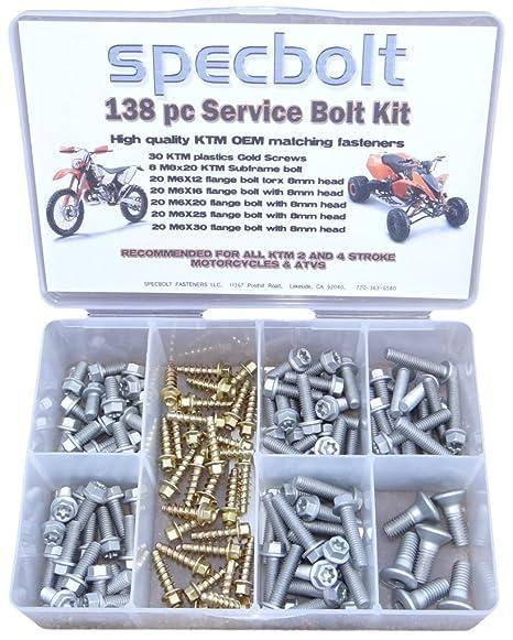 Amazoncom 138 Pc Specbolt Ktm Bolt Kit For Maintenance