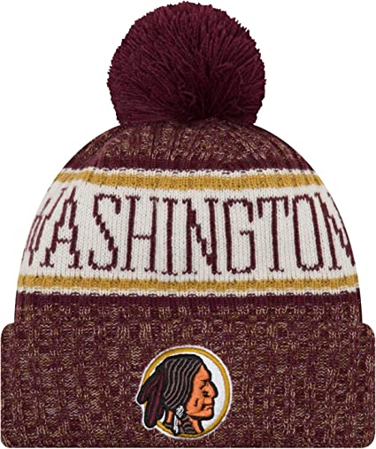 Image Unavailable. Image not available for. Color  New Era Men s Washington Redskins  Sideline Cold Weather Reverse Red Sport Knit b54f5cf08
