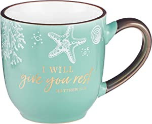"""Christian Art Gifts Seafoam Blue Coffee/Tea Mug for Women 