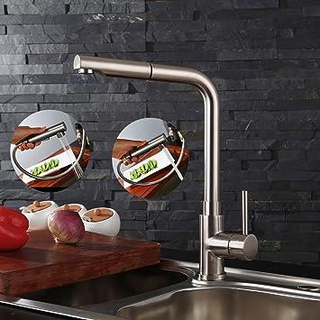 homelody robinet cuisine cuivre mitigeur evier cuisine douchette extractible bross 2 jets variables en laiton durable