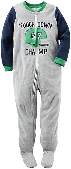 4bb2fe7ac Amazon.com  Carter s Baby Boys  1 Piece Fleece Sleepwear  Clothing
