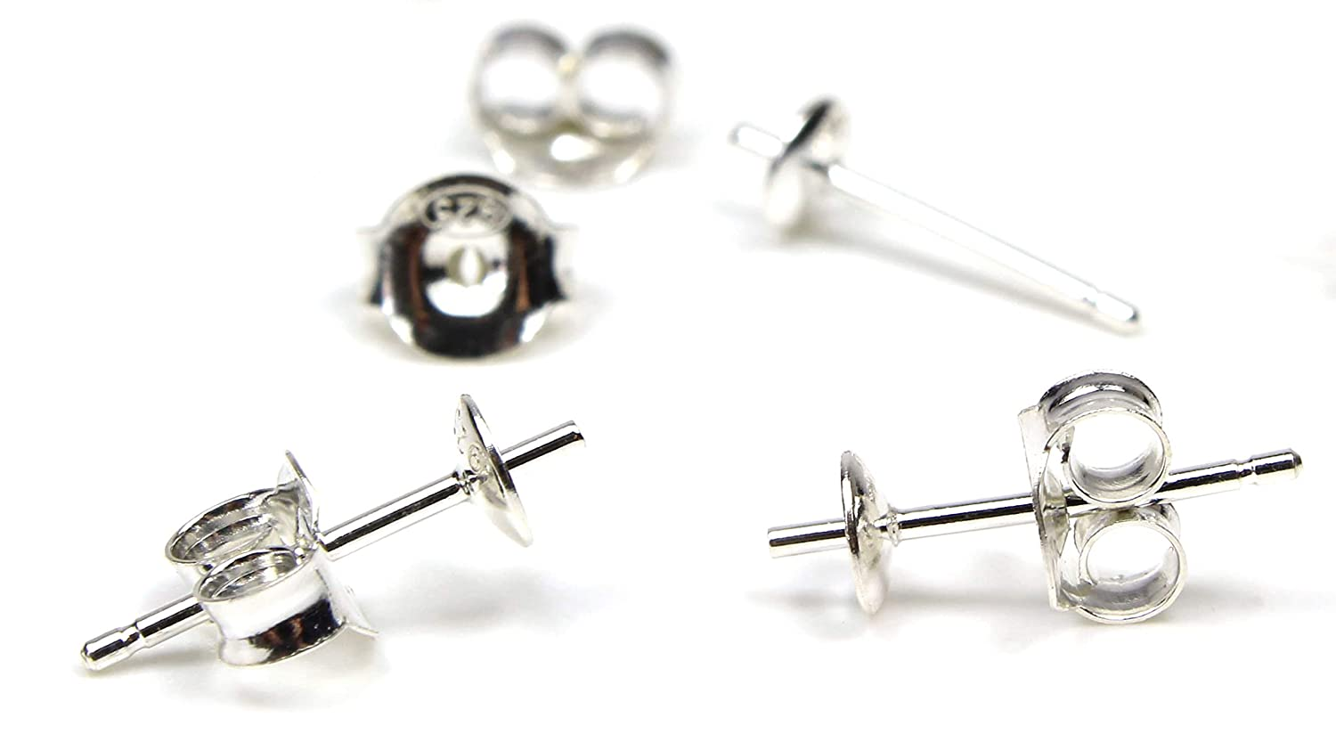 faebcd526 Earring Findings Studs Butterfly Backs 100% Sterling Silver | 5 Pairs | DIY  Jewellery Making | Post Finding Pins, Crafting Blank: Amazon.co.uk: Kitchen  & ...
