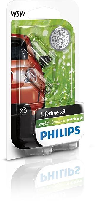 10 opinioni per Philips 12961LLECOB2- W5W Long Life EcoVision B2, 12V, 5W