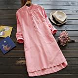 Clearance! Solid Long Sleeve Dress,Women Plus