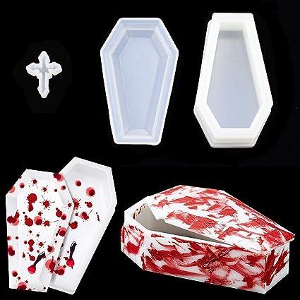 Mini kawaii coffin resin necklace